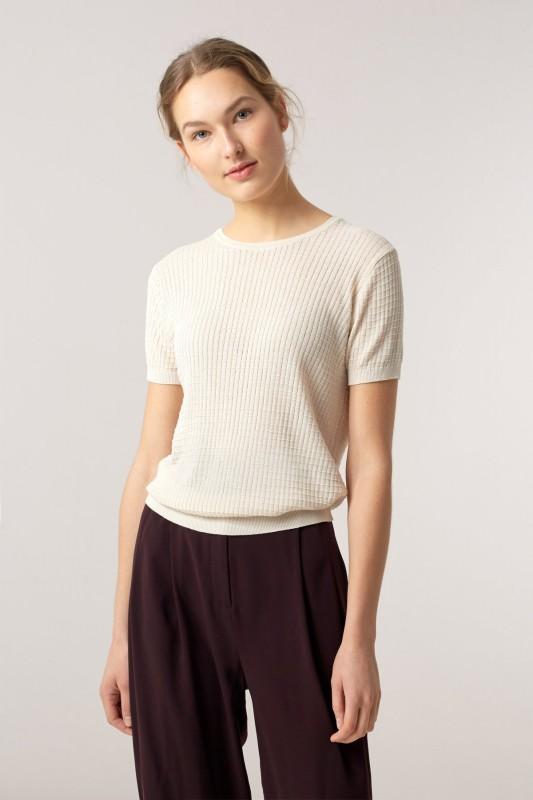 Funktionschnitt, T-Shirt Mako natur