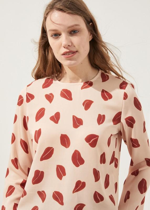 TUKTU Bluse aus Tencel & Leinen, Print