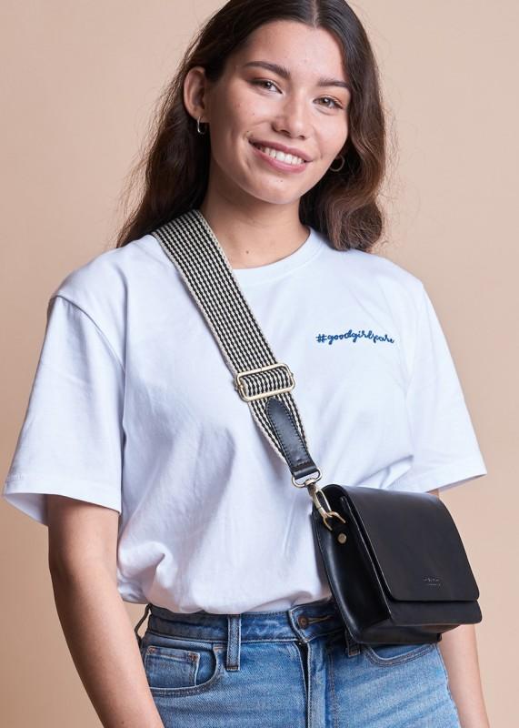 O My Bag Audrey Mini classic black leather checkered strap