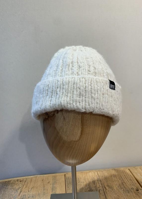 Soft Mütze aus Baby Alpaka, ecru