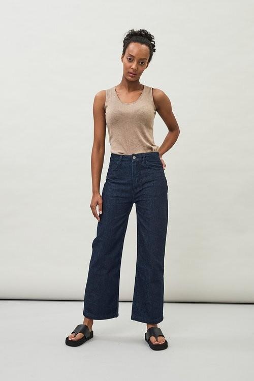 KADY Straight Cropped Leg Organic Denim Jeans