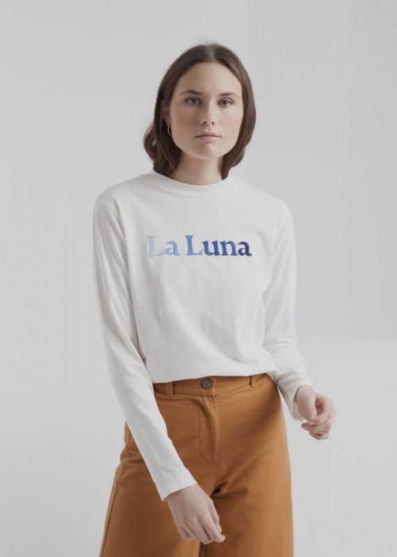 Thinking MU La Luna Mock T-Shirt snow white