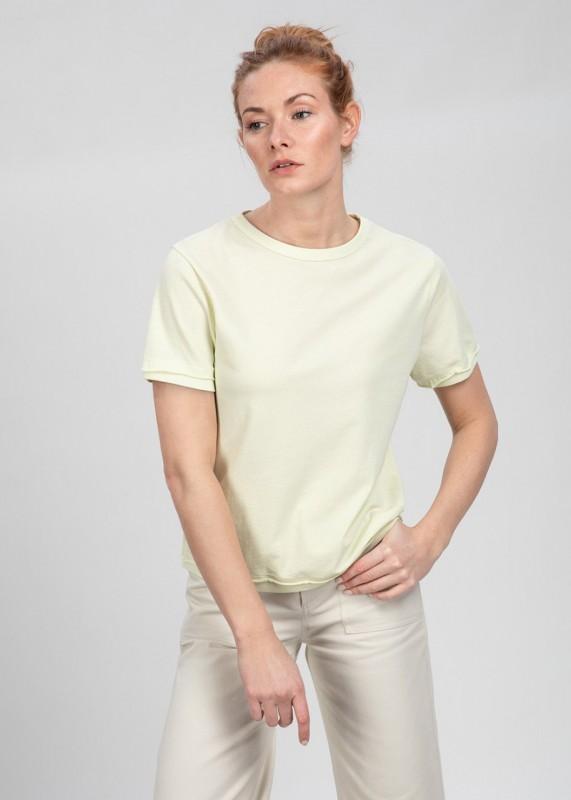 TONE Bio T-Shirt aus Baumwoll-Crepe, buttermilk