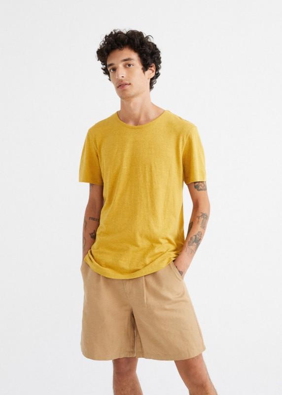 Thinking Mu Mustard Hemp T-Shirt