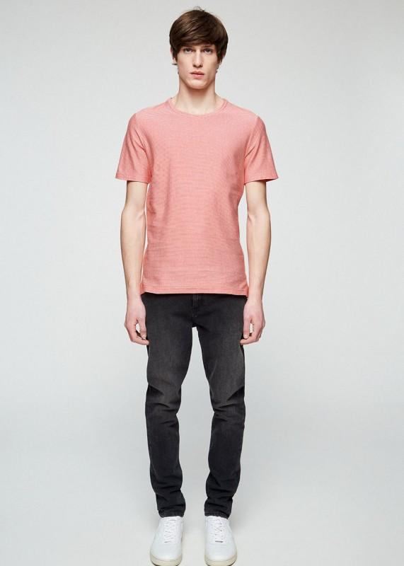 Armedangels Shirt Saam orange-weiß