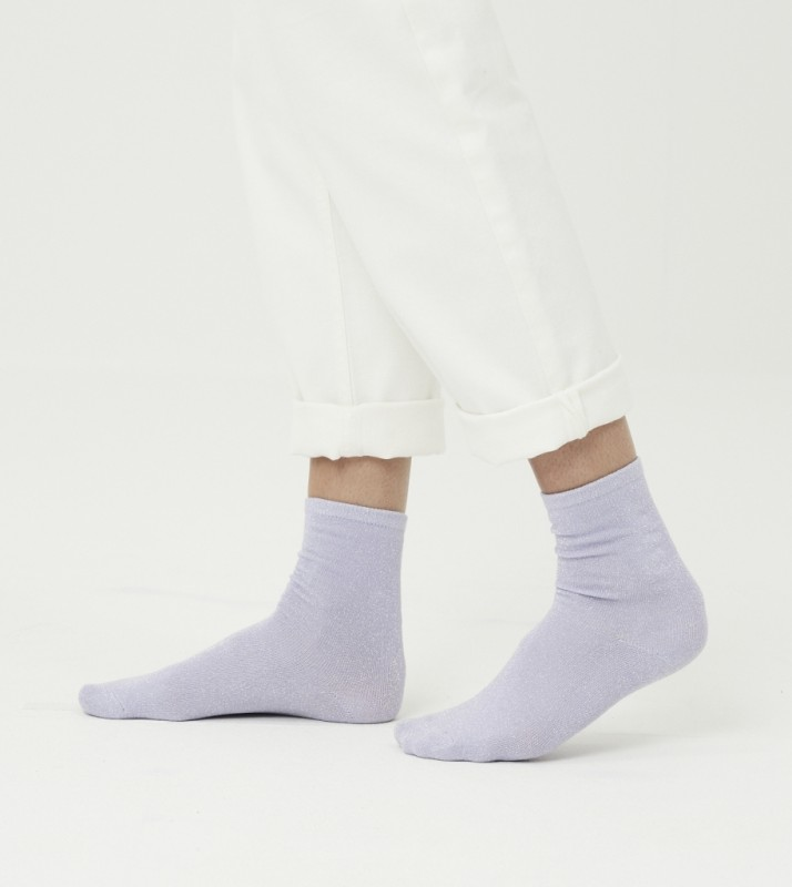HONEY glitter socks - GOTS/Vegan, asley blue