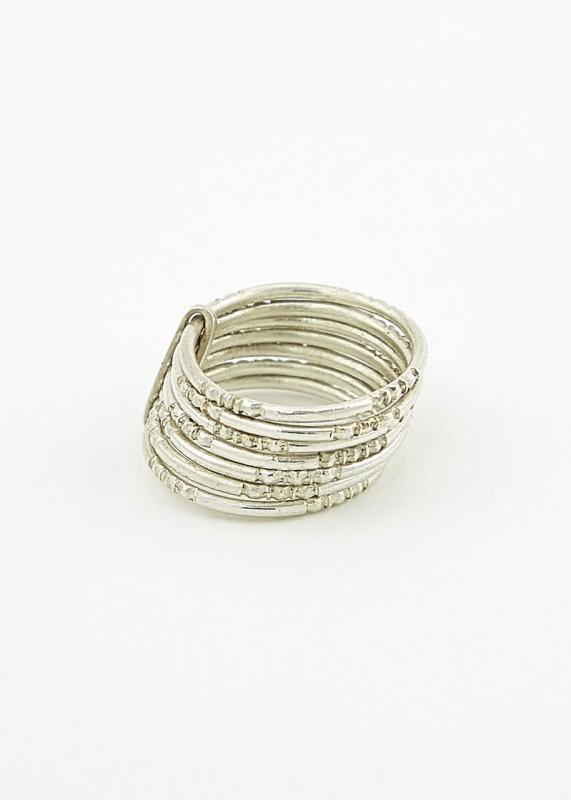 Silber-Ring graviert, 7 Ringe