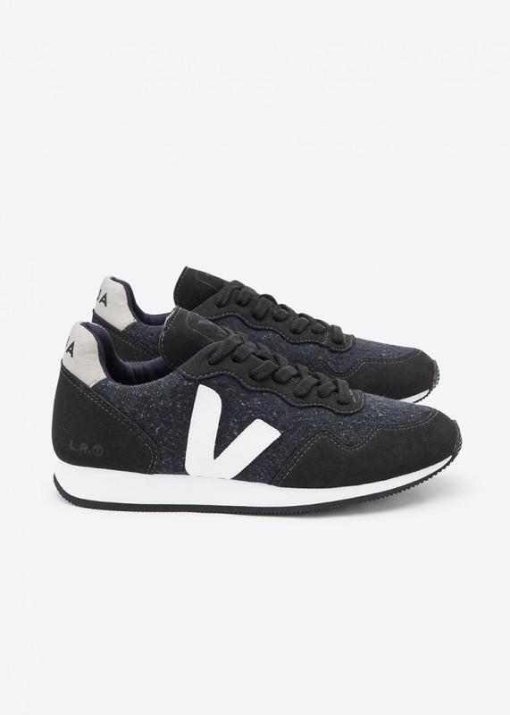 SDU - Vegane Sneaker aus Flannel, black white