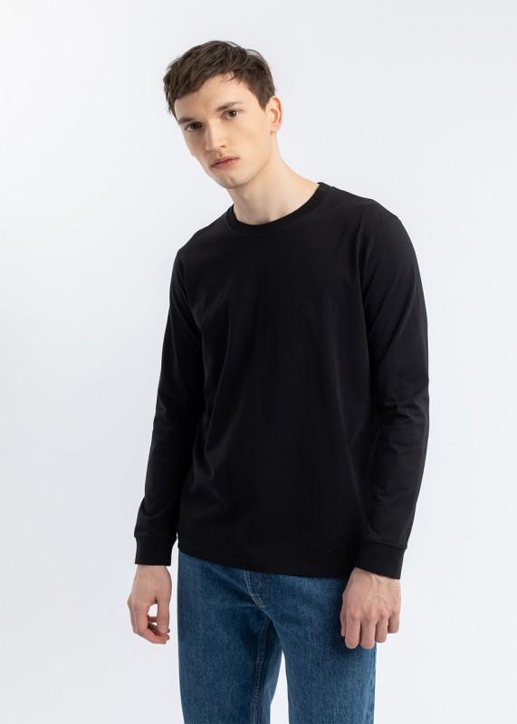 RIGHTS Langarm T-Shirt Schwarz