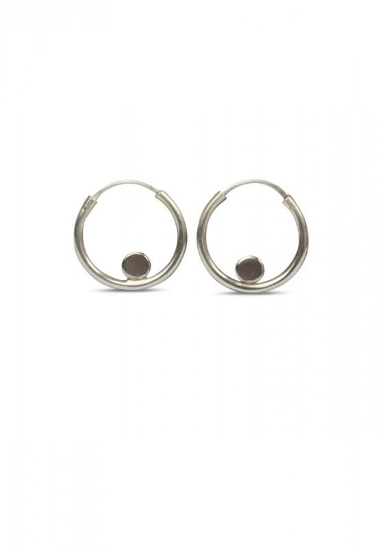 Circle Dot Ohrstecker Silber