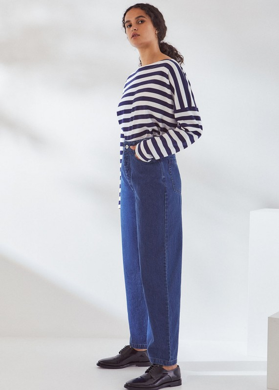 Linear Jeans, Mid Blue Denim