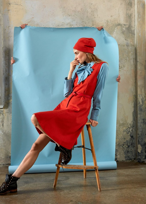 Annette Rufeger Trägerkleid rot