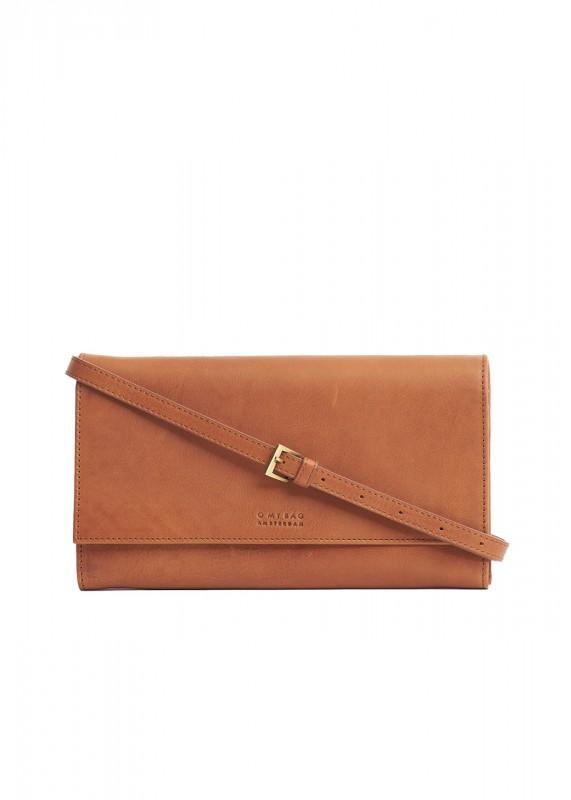 O My Bag clutch Kirsty cognac stromboli leather